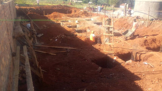 Basement foundations almost complete