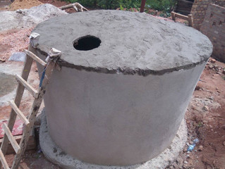 Rainwater harvesting tank complete