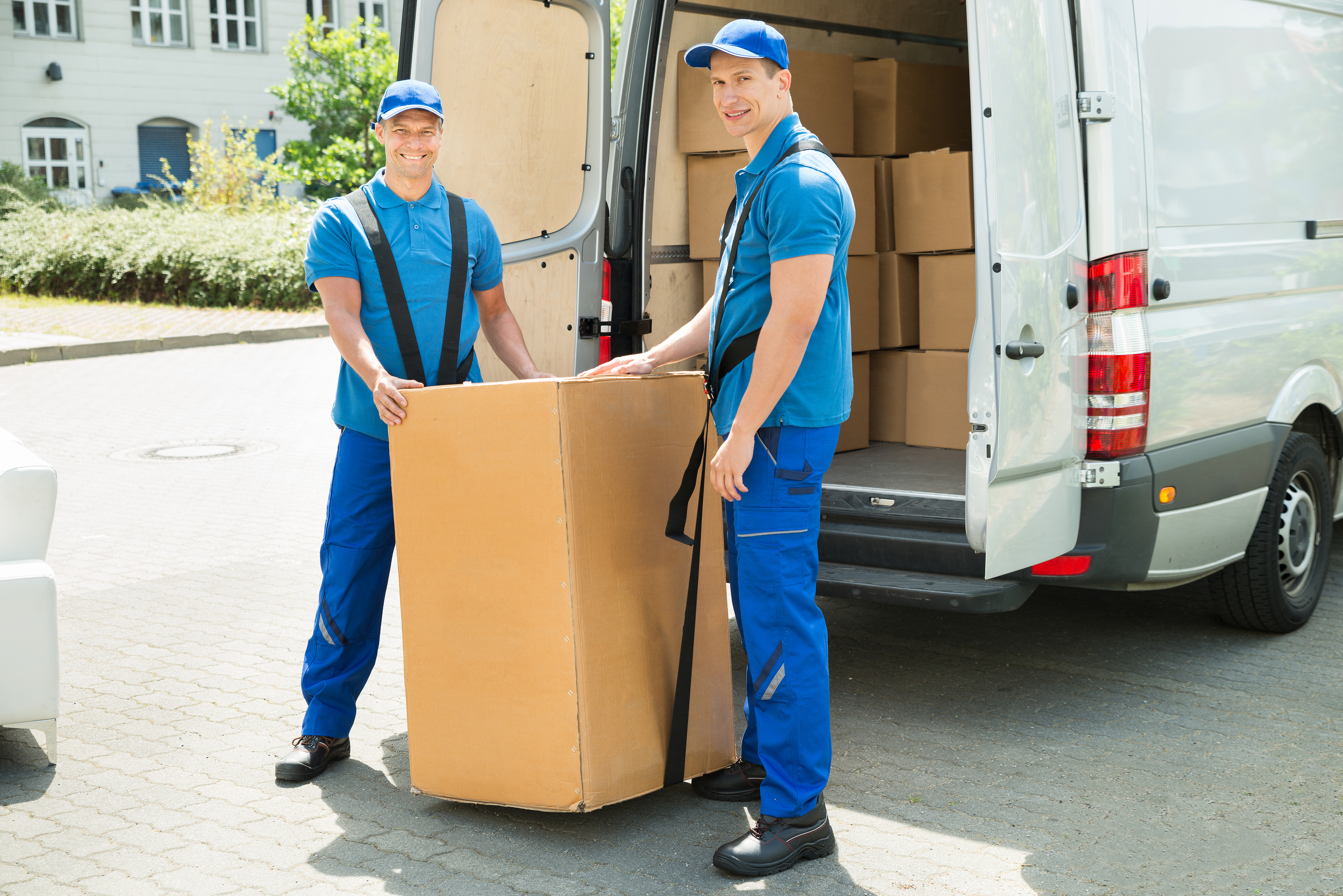 Two Men Lift Couriers
