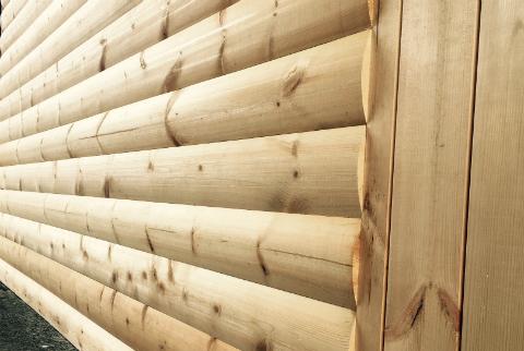 ไม้ฝาสน แบบท่อนซุง ไม้ตกแต่งผนัง ผนัง ไม้สน