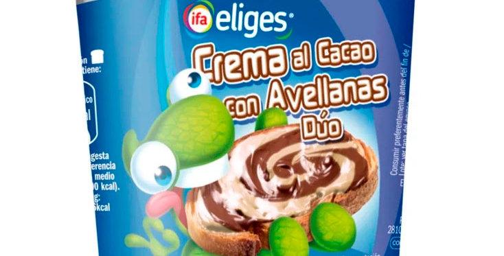 Шоколадний крем з фундуком подвійна Ifa Eliges al Cacao con Avellanas Duo 210г