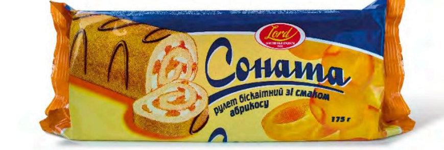 Рулет Соната зі смаком абрикоса 175 гр.