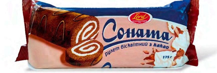 Рулет Соната зі смаком какао 175 гр.