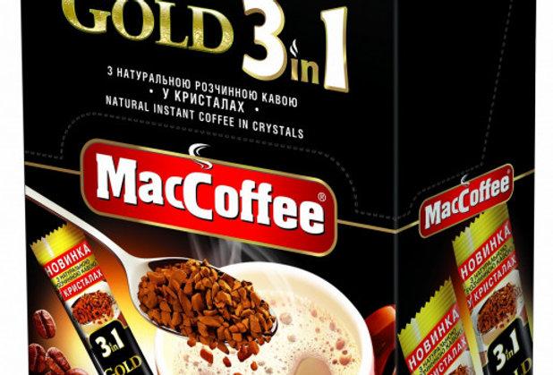 Maccoffee GOLD 3 в 1, 20 стиков