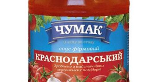 """Чумак Соус """"Краснодарський"""", ст / б 535 г"""