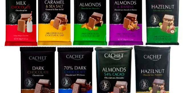 Шоколад CACHET, 300г 9 смаків в асортименті (Бельгія)