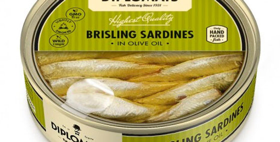 Сардини DIPLOMATS в оливковій олії 160гр
