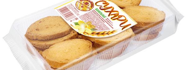 Сухарі ТМ Домашній Хліб ванільні 300г. 12шт / уп
