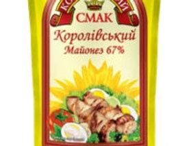 Майонез Королівський Смак 67%, 160 г / 28 шт