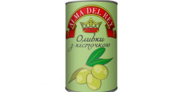 Оливки ТМ Королівський Смак з кісточкою 0,314 г