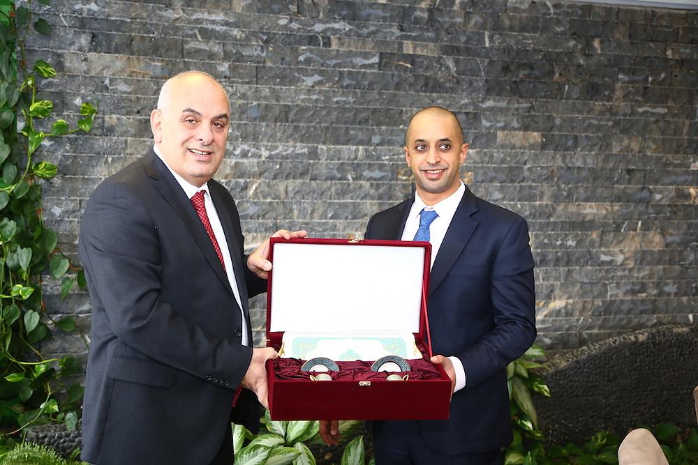 Athan Güner ve Ahmed Bin Sulayem
