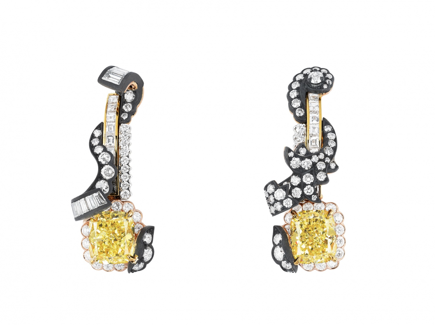 BOISERIE-DIAMANT-JAUNE-EARRINGS