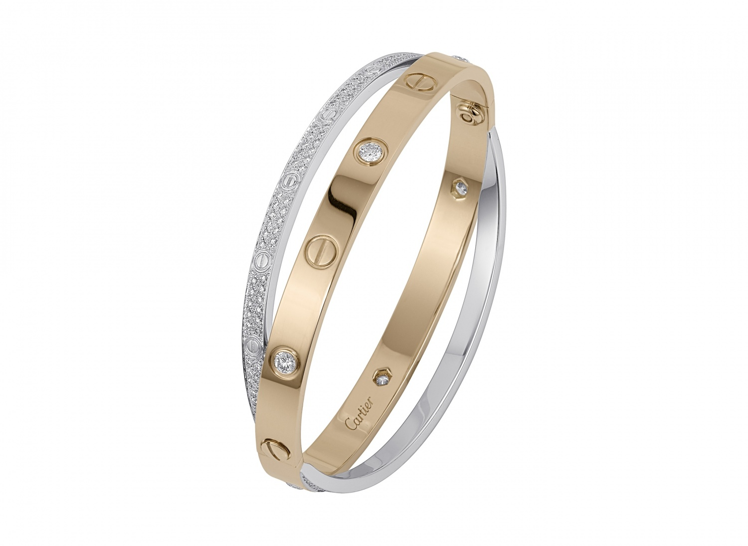 Cartier-Double-ring-from-the-Love-collection-White-gold-and-pink-gold-set-with-6-diamonds