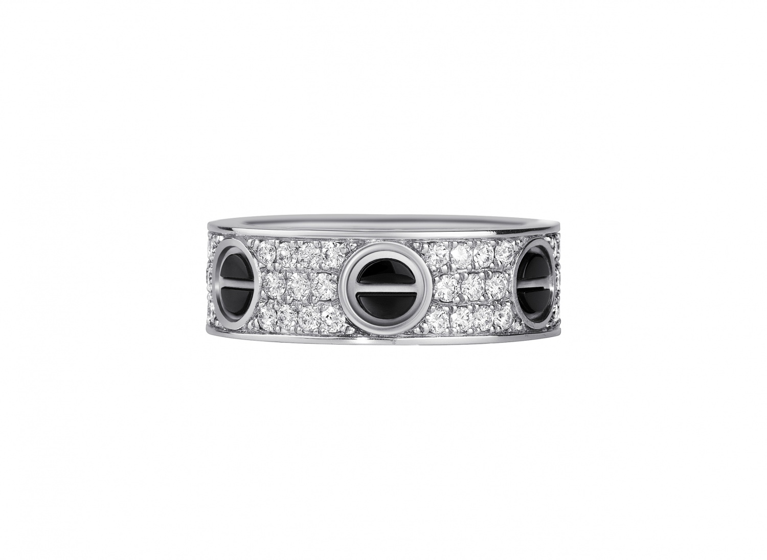 Cartier-Rings-from-the-Love-collection-White-gold-set-with-stones-black-ceramic