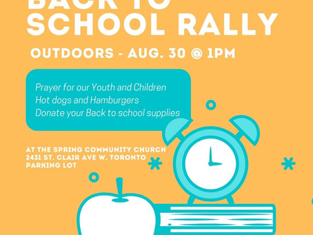 Back to School Rally - August 30 @ 1 PM