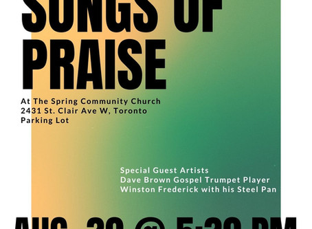 August 30 @ 5:30 PM - Songs of Praise