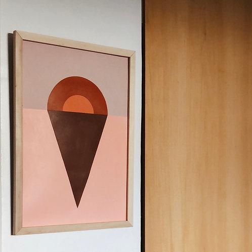 """Pintura """"CONFIGURACIONES 1"""" 35x50cm"""