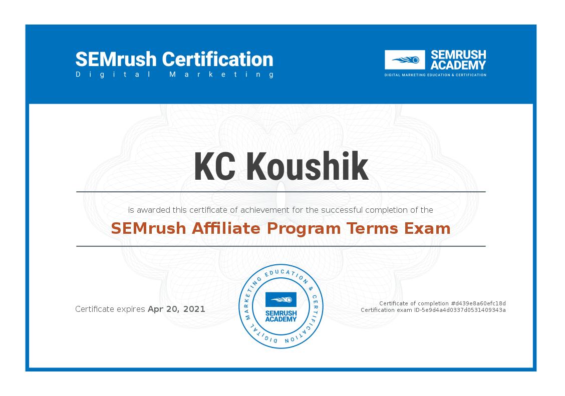 Certificate-affiliate-program-terms-exam