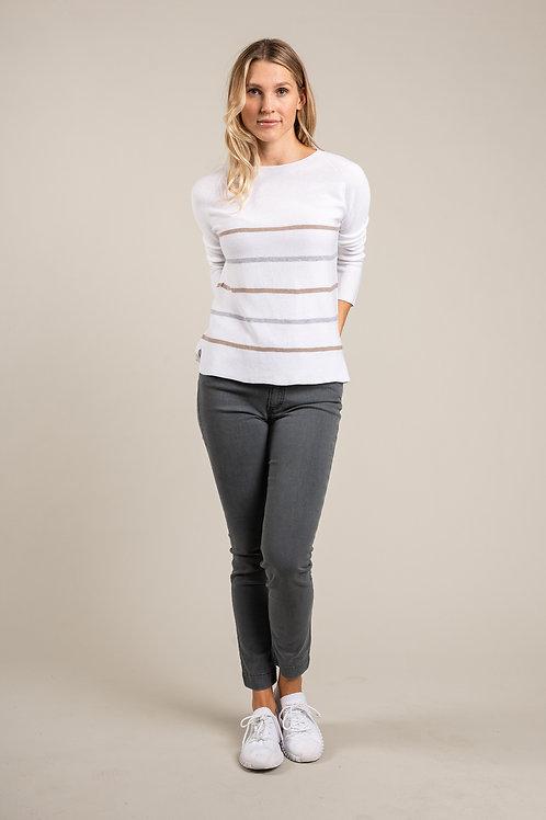Pullover mit schmalen Streifen