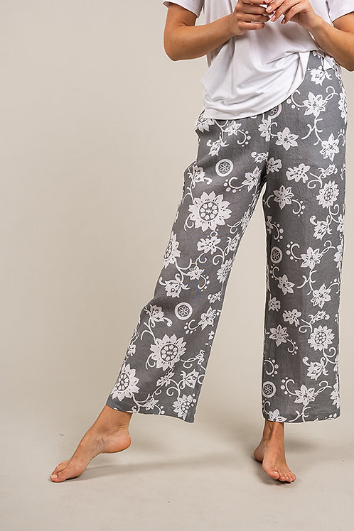 Pantalone Lino stampato
