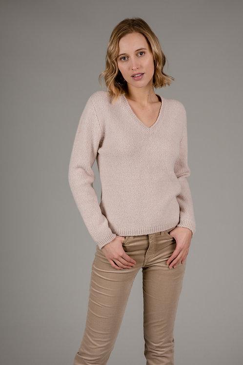 Pullover aus Alpakawolle, vanisee gestrickt