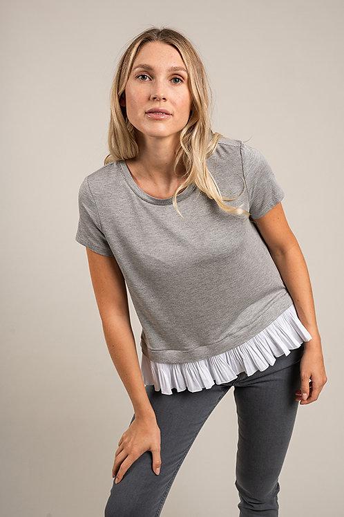 T-Shirt mit Plisset