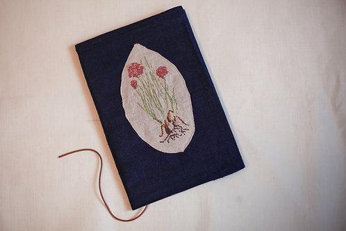 """Льняной блокнот с вышивкой """"Травы"""""""