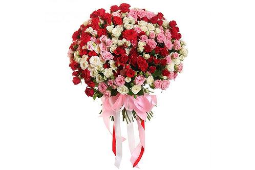 Букет 51 нежная роза спрей