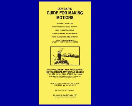 Dunbar's Guide For Making Motions (Brochure)