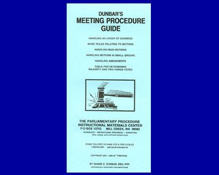 Dunbar's Meeting Procedure         Guide (Brochure)