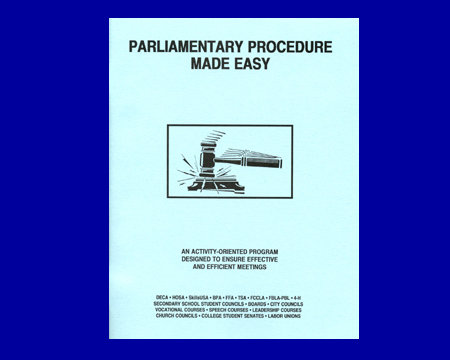 Parliamentary Procedure Made Easy (Text-Workbook)