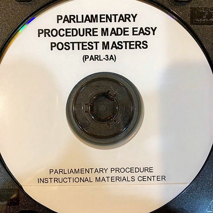 Parliamentary Procedure Made Easy                               Posttest Masters