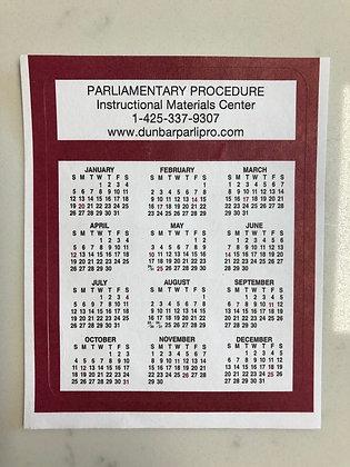 Self-Stick Calendar