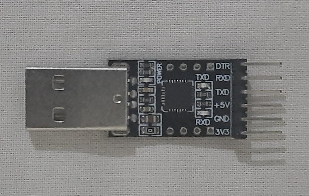 CP 2102 USB to TTL converter