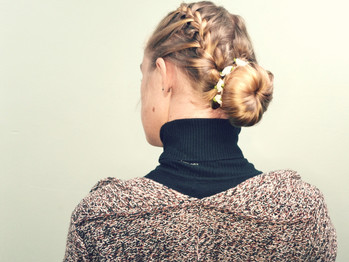 Braided updo's against tangles