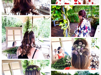 Styling hair for Yves Rocher