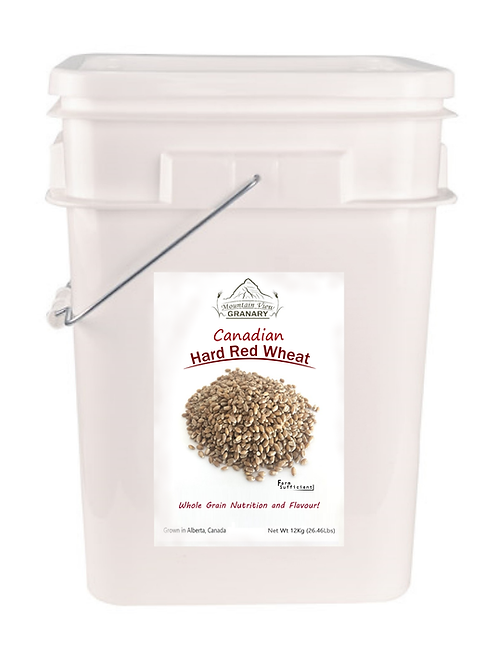 Canadian Hard Red Wheat (12kg Pails)
