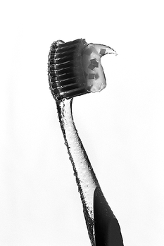 Toothbrush and mint-flake toothpaste, 2014.