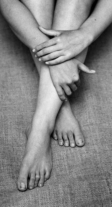 Anna Maria's hands and feet, 2017.