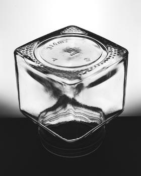 Upturned glass jar, 2016.