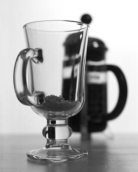 Irish coffee glass and plunger, 2013.