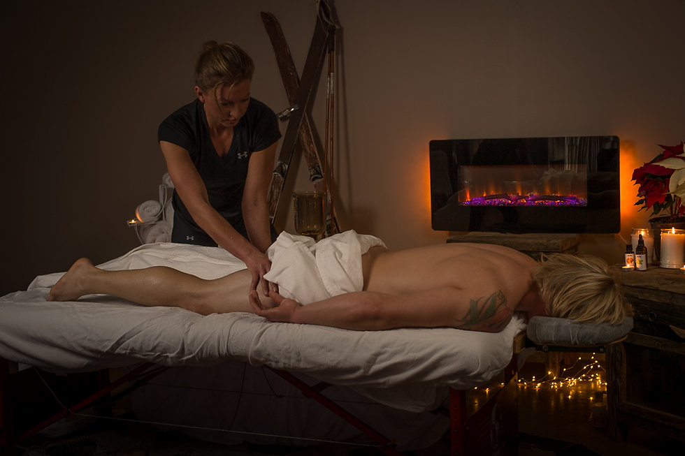 Heather Reddig offers relief to sciatic pain