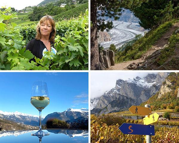 catherine antille œnotourisme avec une guide diplômée dans les vignes du Valais et dégustation de vin