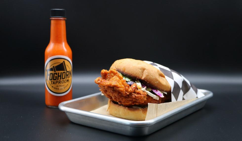 Foghorn Fried Chicken Sandwich Hot Sauce