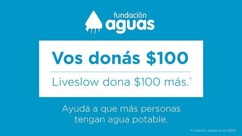 DONÁS $100 LA FUNDACIÓN RECIBE $200