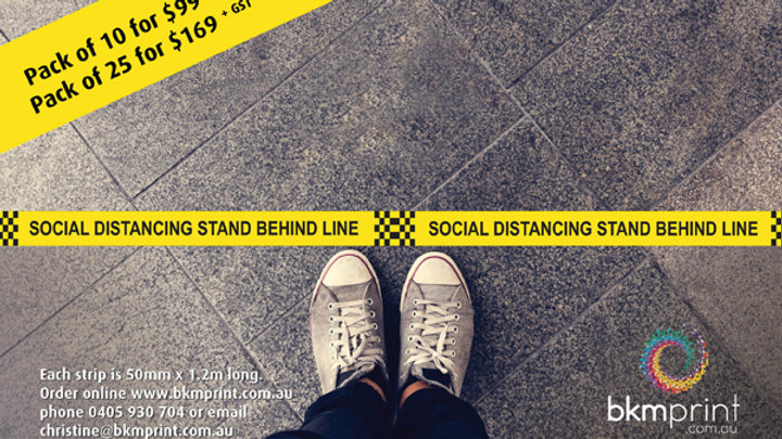 Social Distancing Floor Strips