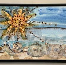 Beach Watercolor Canvas $240