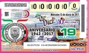 Billete Conmemorativo de la Lotería Nacional