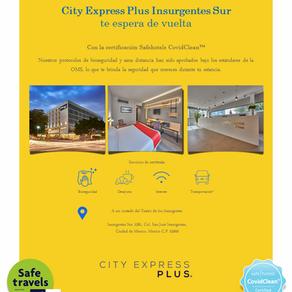 City Express Plus Insurgentes Sur viaje de negocios o de diversión con la familia y mejores amigos.