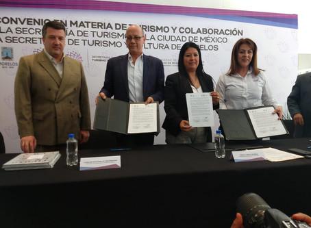 Firma de Convenio con Gobierno de la Ciudad de México y el Gobierno del Estado de Morelos.